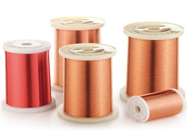 China 0.4 - 0.8mm Solderable Polyurethane Enameled Copper Wire factory