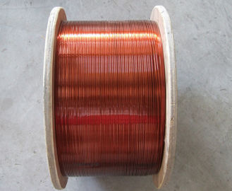 China Class A Rectangular / Flat Enamelled Copper Wire 200 Degree For Transformers factory