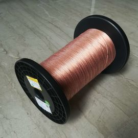 China Polyimide Film Covered Copper Litz Wire Class 180 Taped With High Frequency factory