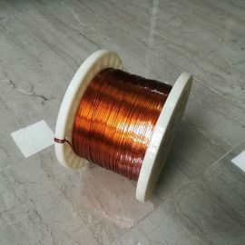 China 0.5×1.0mm Rectangular Copper Wire / Self Bonding Enameled Copper Winding Wire factory