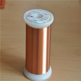 China UEW Solderable Enameled Copper Wire / Round Shape Copper Enameled Wire factory