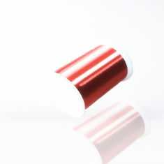 China Red Enameled Magnet Copper Wire 0.02mm Diameter Ultra Thin Class F / H factory