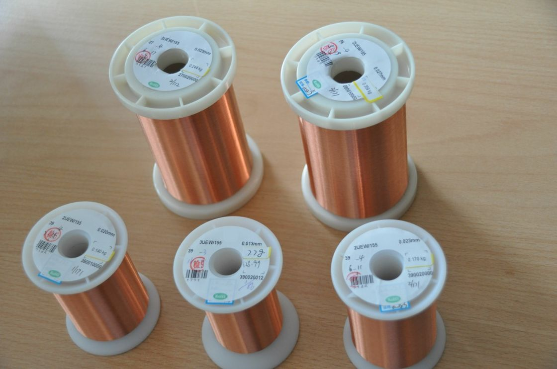 UEW 130 / 155 / 180 Self Bonding Wire Enameled Copper Insulated Wire For Voice Coils supplier