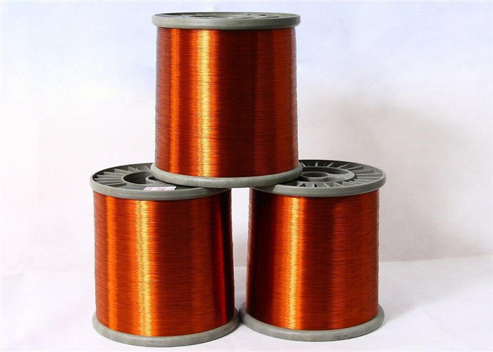0.13mm FIW Wire Enameled Round Copper Wire Nature Color Roll Packing supplier