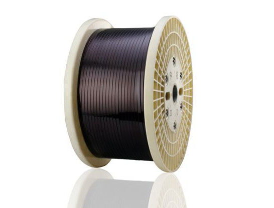 Super Thin Rectangular Magnet Wire , 0.02 - 1.8mm Flat Copper Wire For Automotive supplier