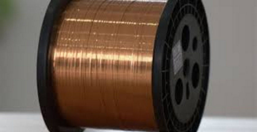 Ultra Fine Self Bonding Magnet Wire , Rectangular Copper Wire For ...