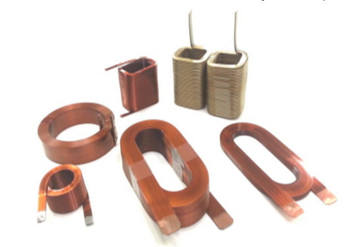 Rectangular / Flat Magnet Wire , Enamelled Winding Wire Conductor ...