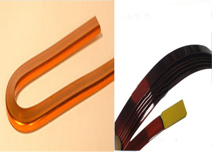 Polyurethane Self Bonding Magnet Wire , Enameled Rectangular Copper Wire supplier