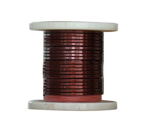 SWG 1 mm Rectangular Copper Wire , Enameled Copper Magnet Wire For Electrical Motors supplier