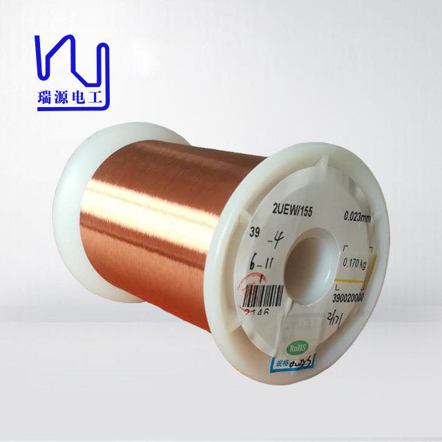 Fine Enameled Copper Wire 0.01mm  , Polyester Coating Electric Motor Winding Wire supplier