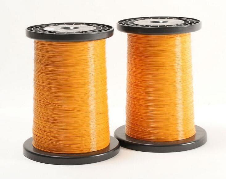 Green / Red Self Bonding Copper Wire , Triple Insulated Magnet Wire For Facsimile supplier