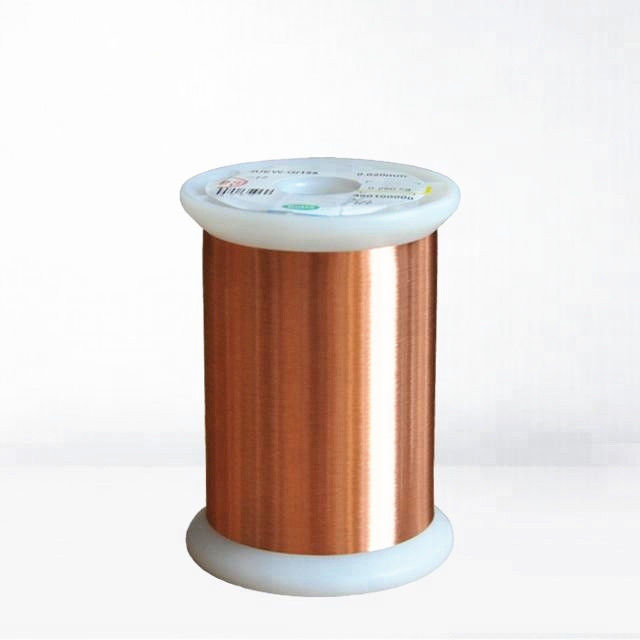 Ultra Fine Copper Magnet Wire Enameled Winding Wire Thermal Class 155 / 180 UEW 0.01mm supplier