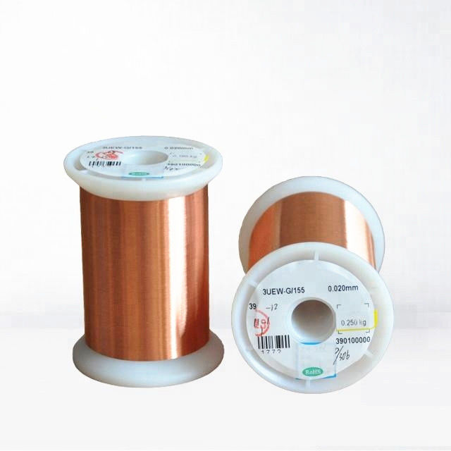 0.02mm Ultra Fine Copper Magnet Wire Ul Certificated Transformer Enamelled Wire supplier