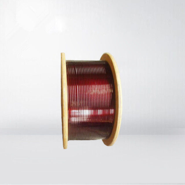 Class A Rectangular / Flat Enamelled Copper Wire 200 Degree For Transformers supplier
