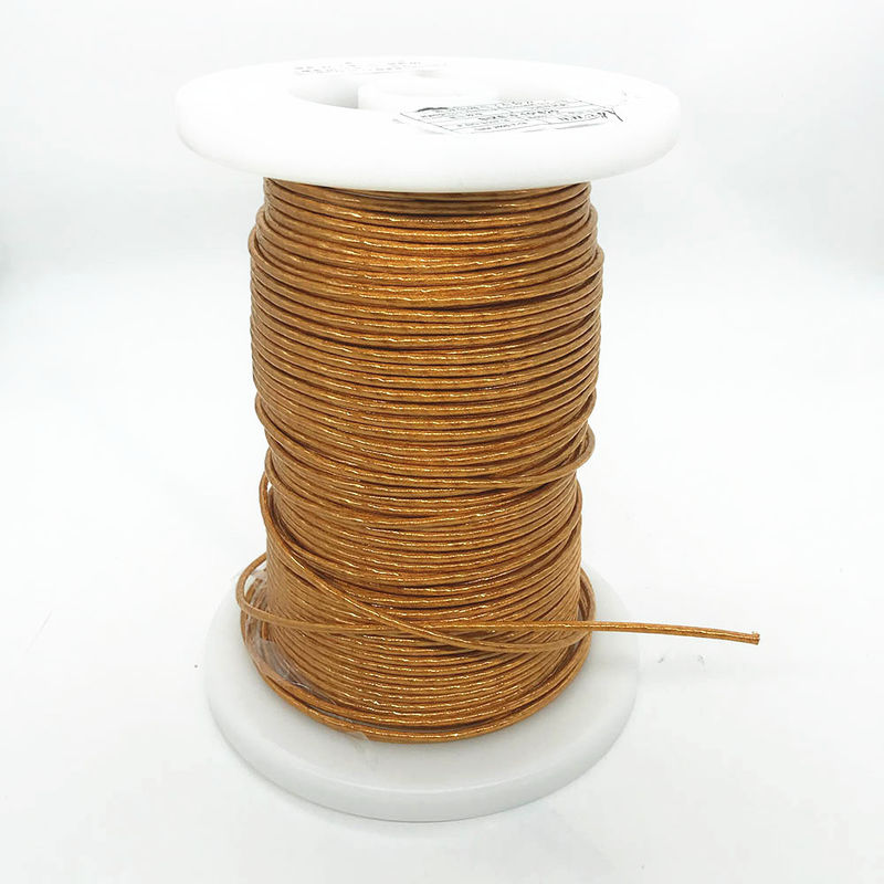 RoHS AWG38 / 620 Strands Mylar Litz Wire  Enameled Copper Litz Wire