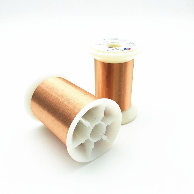 UEW Insulation Awg 42 0.063mm Magnet Copper Enameled Wire