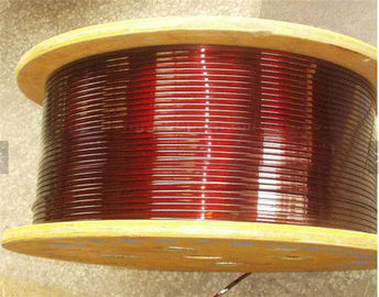 0.8 - 5.6mm Super Fine Flat Copper Wire , Purple Solderability Motor Winding Wire