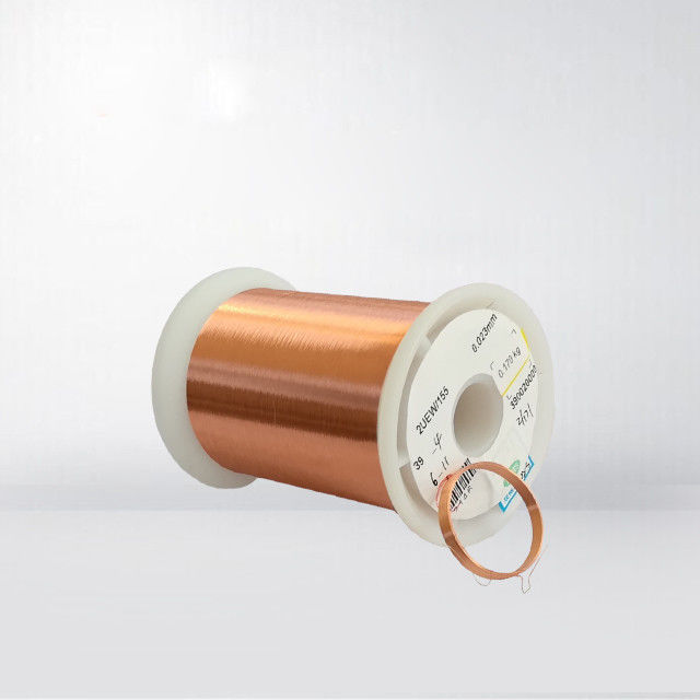 Ultra Fine Copper Magnet Wire Enameled Winding Wire Thermal Class 155 / 180 UEW 0.01mm